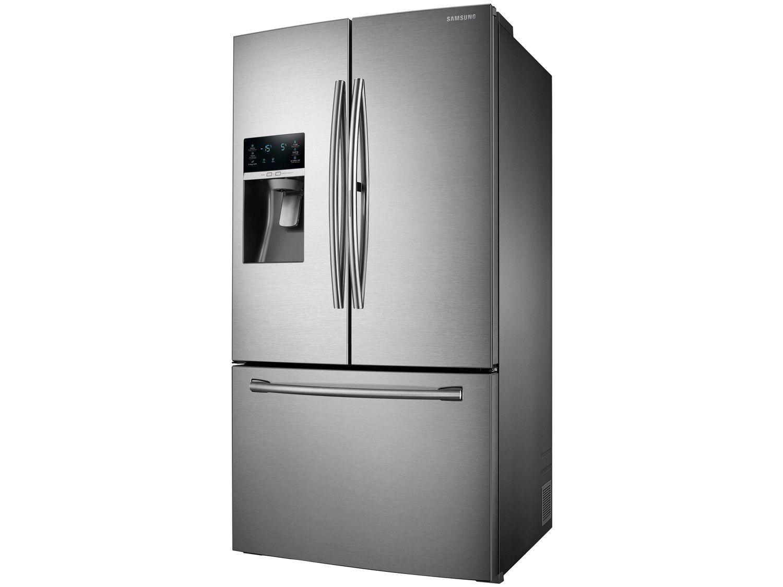 Geladeira Refrigerador Samsung Frost Free Inox French