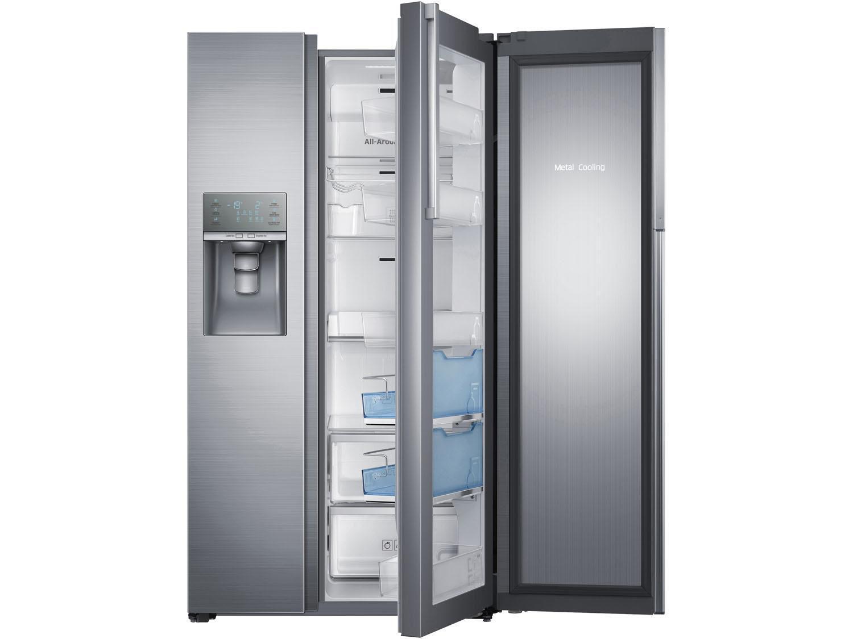 geladeira refrigerador samsung inox side by side 765l. Black Bedroom Furniture Sets. Home Design Ideas