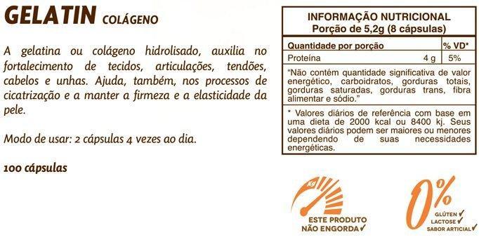 90a8eccdb Gelatin 650mg Colágeno Hidrolisado Sundown 100 cápsulas - Sundown naturals  vitaminas R  57