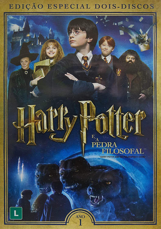 harry potter e a pedra filosofal dvd duplo filmes magazine luiza harry potter e a pedra filosofal dvd