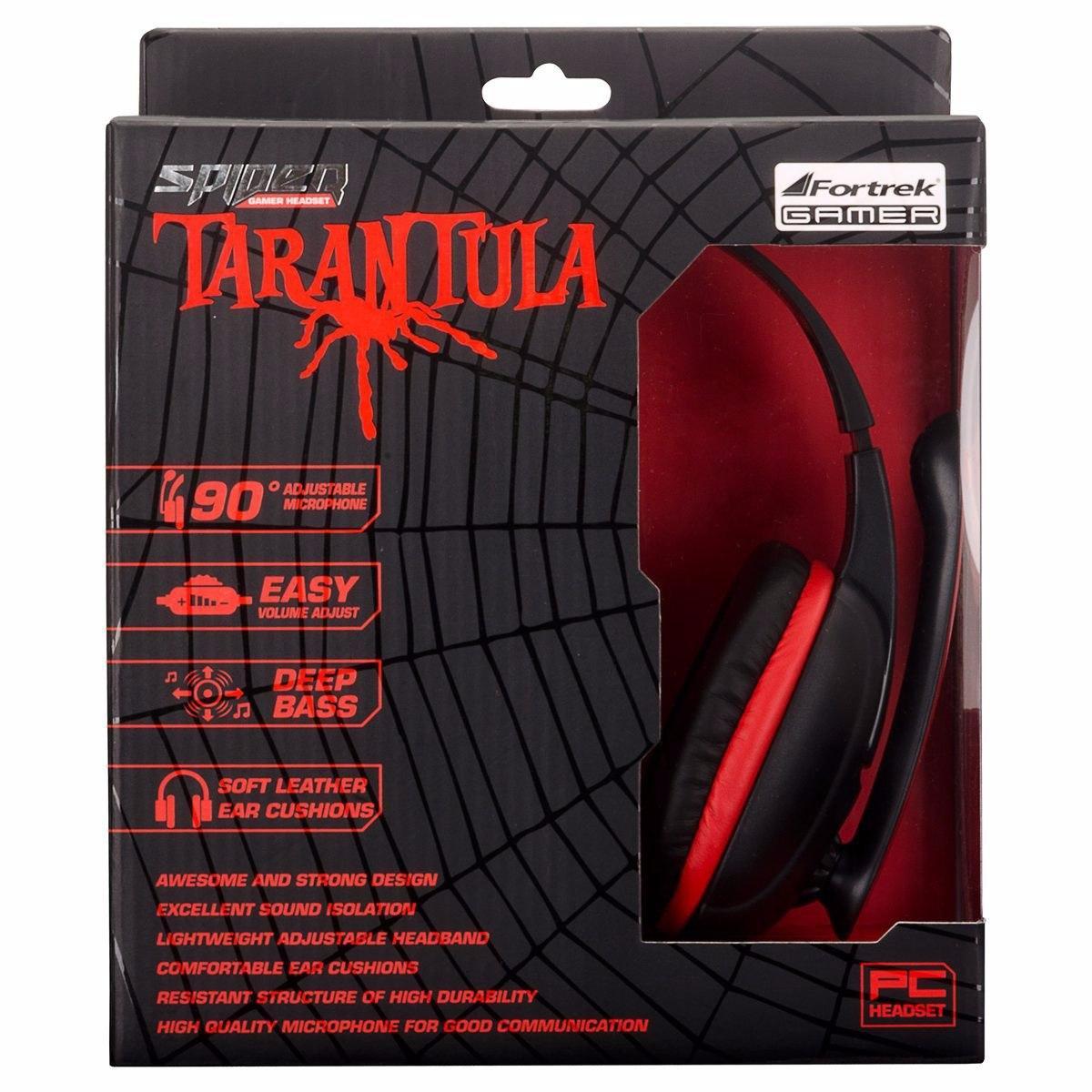 Headset Gamer Spider Tarantula PC/XBOX 360 SHS-702 Fortrek - Fone de