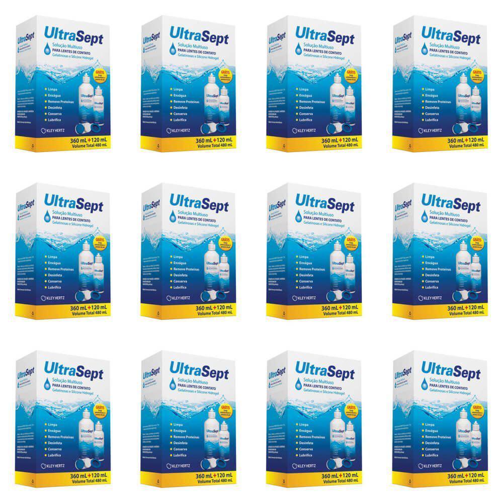 0c38e9dfb4 Hertz Ultrasept Solução Limpeza De Lentes De Contato 360ml +120ml (Kit  C/12) Produto não disponível