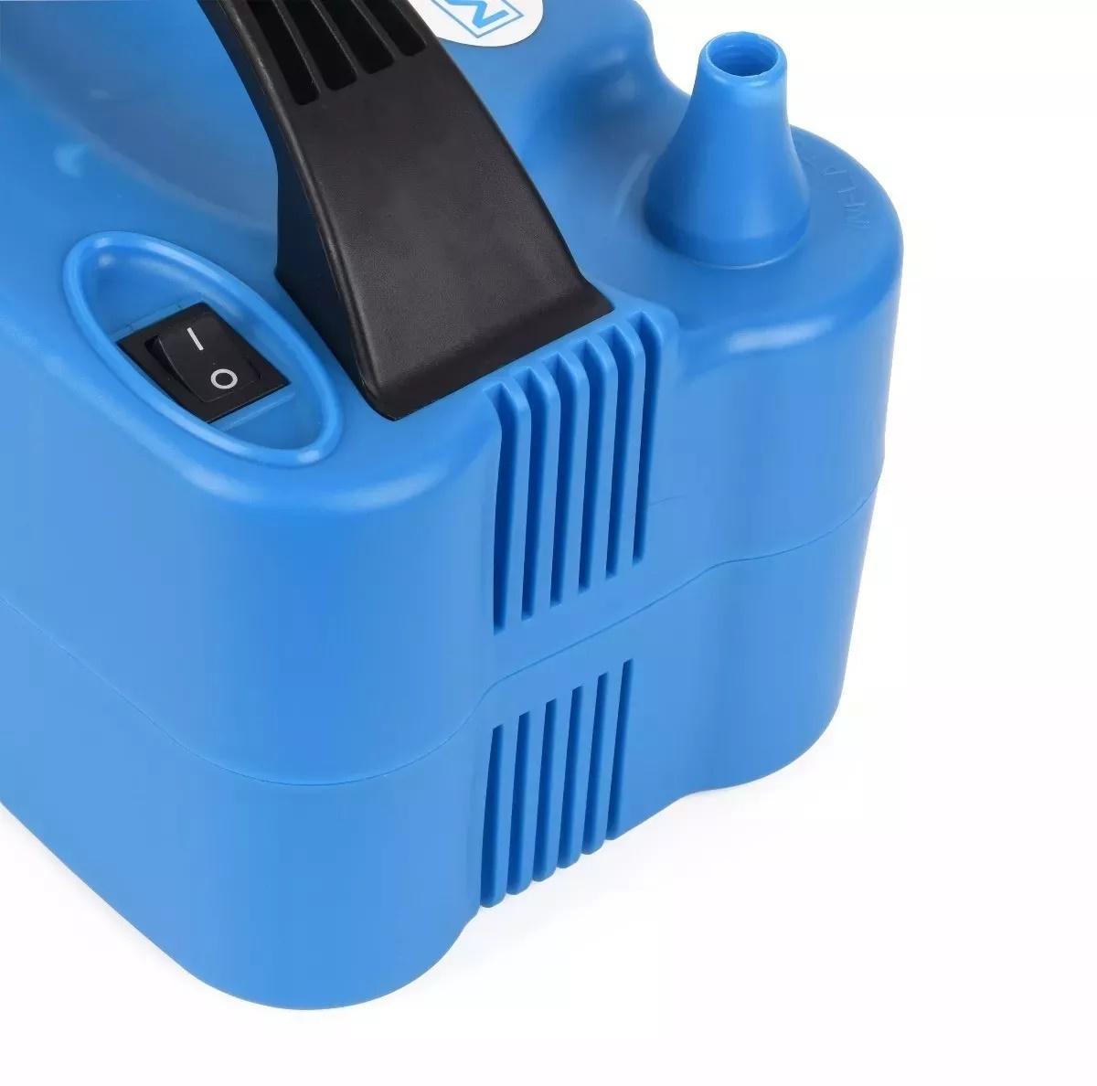 dc7845eeb2f41 Inflador Compressor Bomba Balões Bexigas Azul - Mazzilli R  89