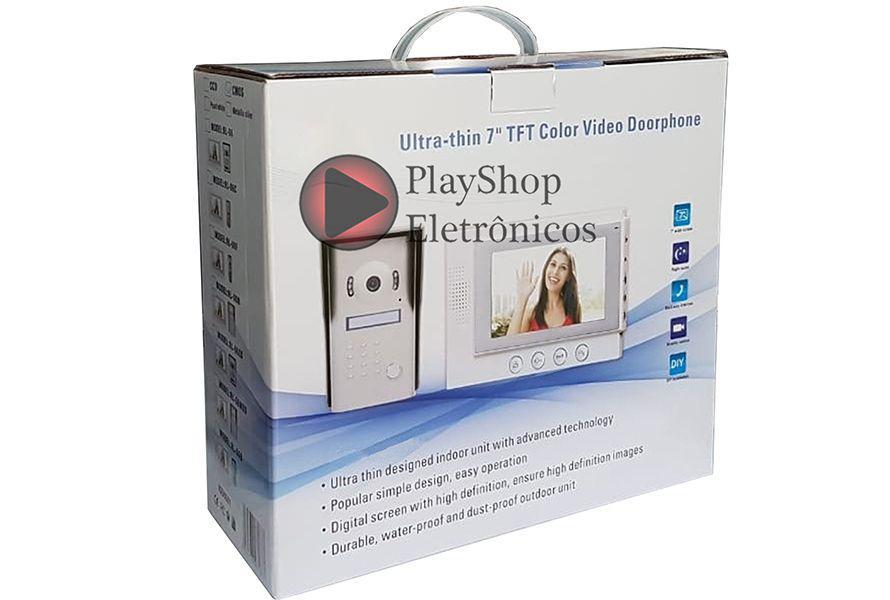 Interfone com Câmera colorida e com Tela 7 vídeo Porteiro Eletrônico