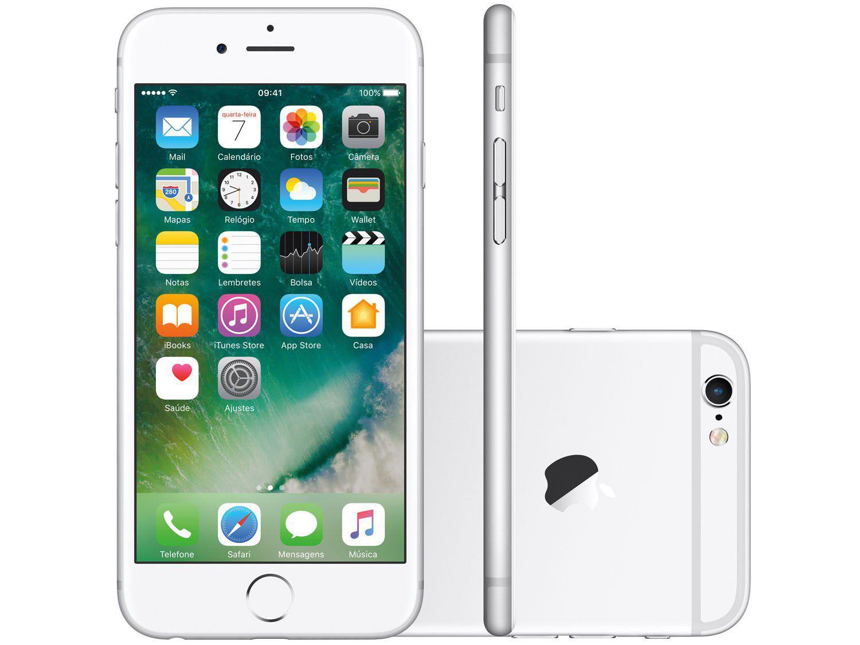 "6ef0ceeb0 iPhone 6s Apple 32GB Prata 4G Tela 4.7"" - Retina Câm. 12MP + Selfie 5MP iOS  10 Proc. A9 - iPhone - Magazine Luiza"