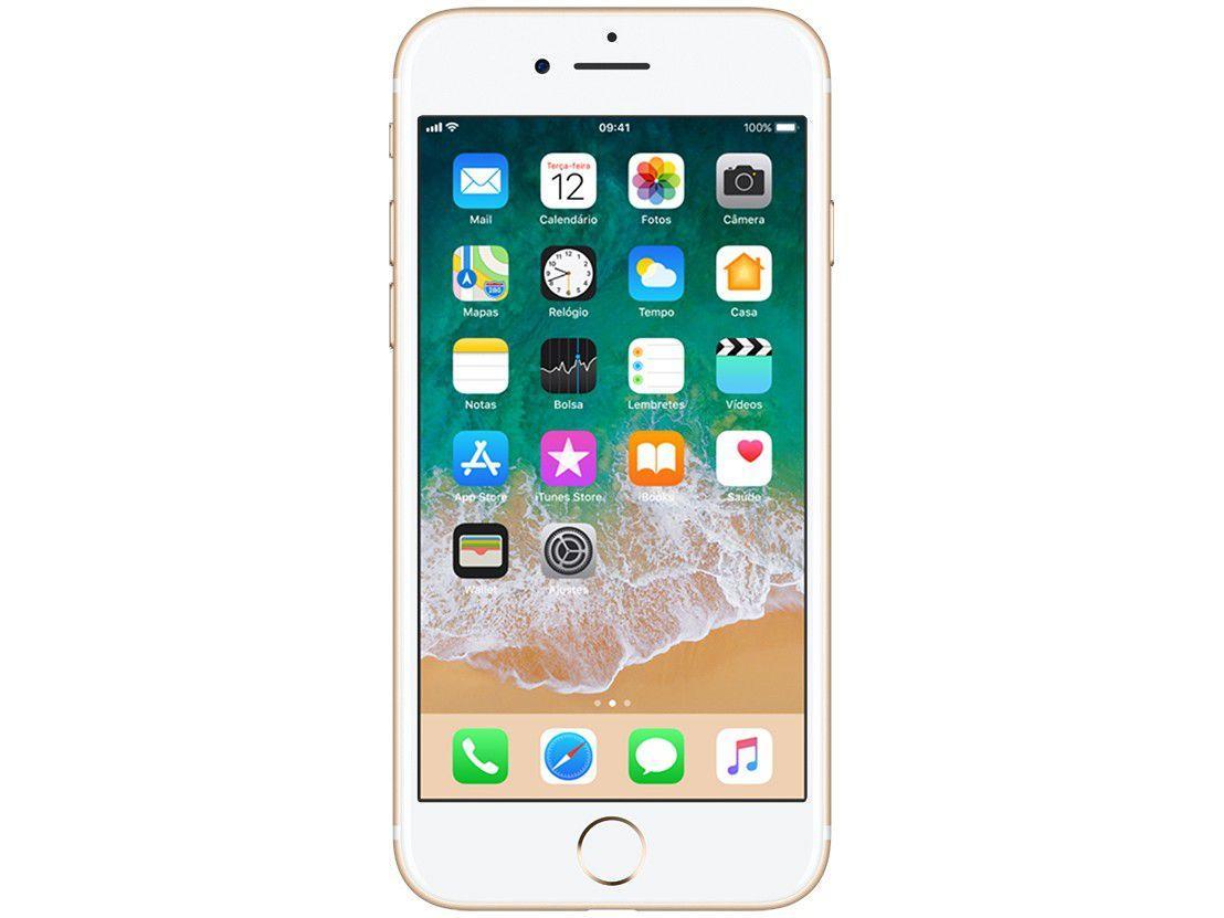 "40af574a8 iPhone 7 Apple 32GB Dourado 4G Tela 4.7"" Retina - Câm. 12MP + Selfie 7MP  iOS 11 Proc. Chip A10 - iPhone - Magazine Luiza"