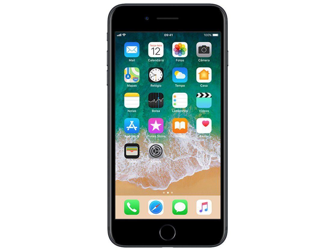"d887a5b2a iPhone 7 Plus Apple 128GB Preto Matte 4G Tela 5.5"" - Câm. 12MP + Selfie 7MP  iOS 11 Proc. Chip A10 R  3.347"
