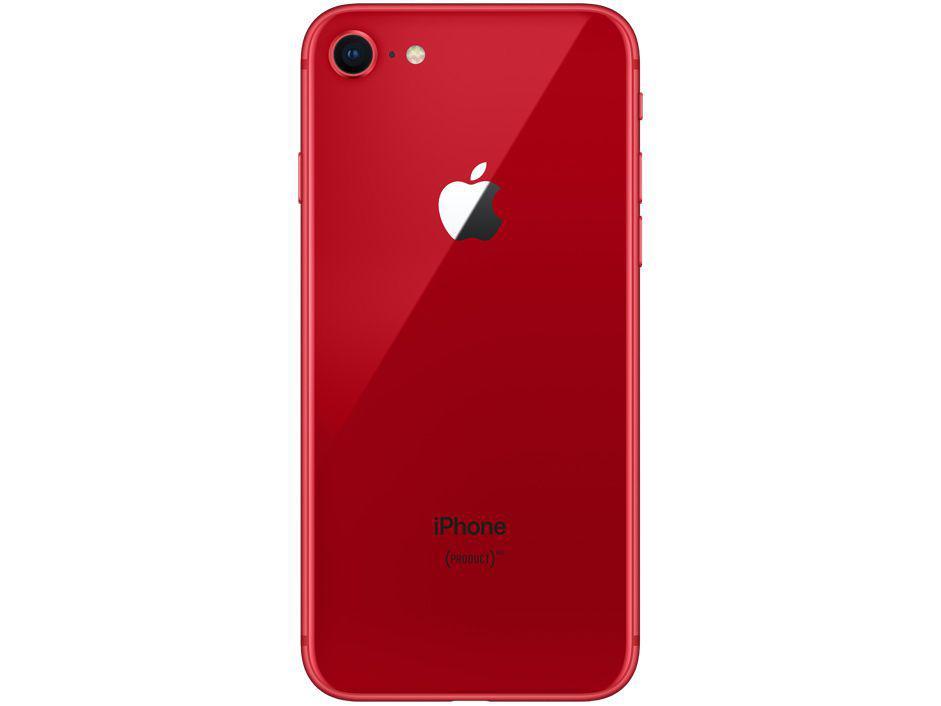 """e51bcf44c iPhone 8 Product (RED) Special Edition Apple 256GB - Vermelho 4G 4.7""""  Retina Câmera 12MP + Selfie 7MP R  3.626"""