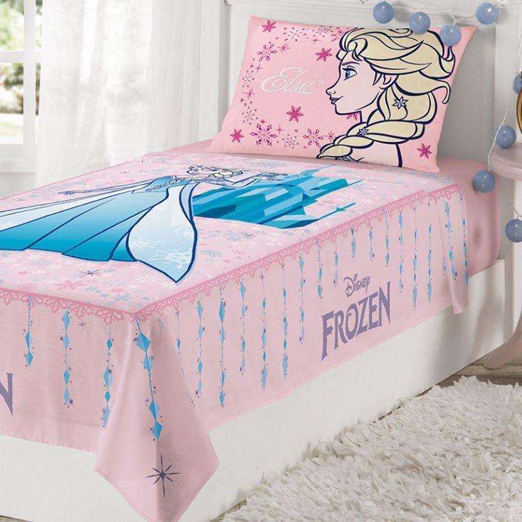 9f8cc0700e Jogo de Cama Infantil Frozen 2 Peças Rosa - Lepper - Jogo de Cama ...