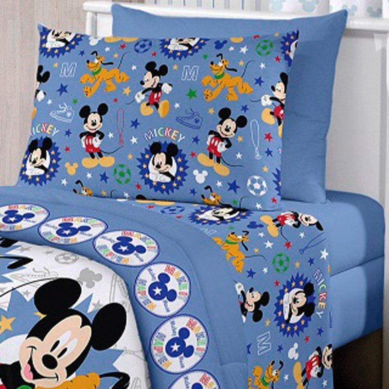 4088cddd79 Jogo de Cama Solteiro Mickey Happy 3 peças - Disney - Santista Produto não  disponível