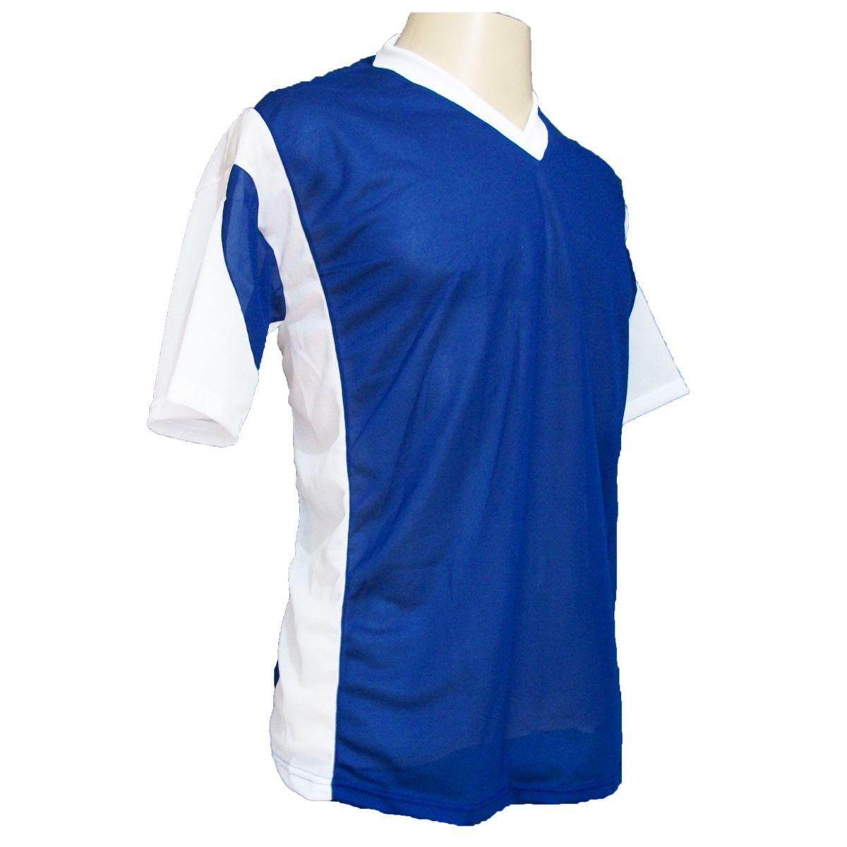 Jogo de Camisa Promocional com 18 Peças Numeradas Modelo Attack  Royal Branco - Frete Grátis Brasil - Kanga sport R  299 c8995700dd8c6