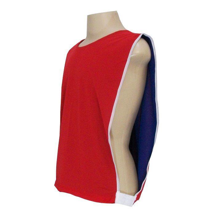 Jogo de Coletes Dupla Face 10 Unidades na cor Royal Vermelho - Kanga sport  R  165 aab9ee733e0d1