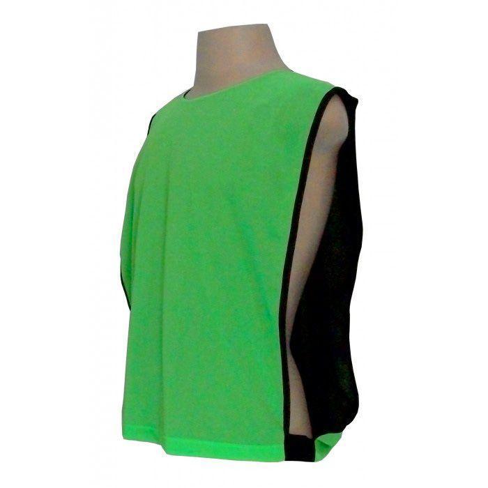 b7022c82111d9 Jogo de Coletes Dupla Face 10 Unidades na cor Verde Limão Preto - Kanga  sport R  179