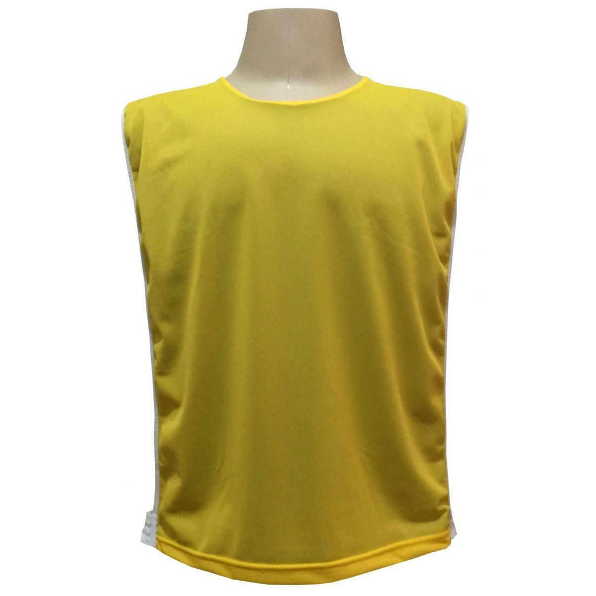 Jogo de Coletes Dupla Face 15 Unidades na cor Amarelo Royal - Kanga sport  R  267 b183ad1a37d66