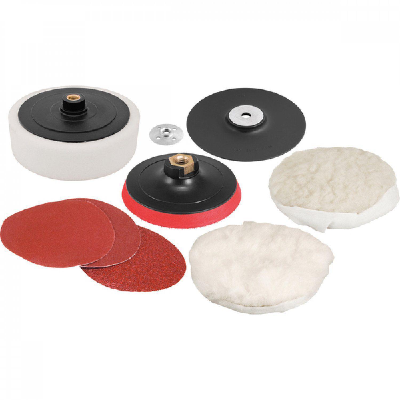 """Jogo de discos para lixar e polir 7"""" e suporte com pluma (sistema fixa  fácil) Vonder R  150 3d9b264fcbc"""