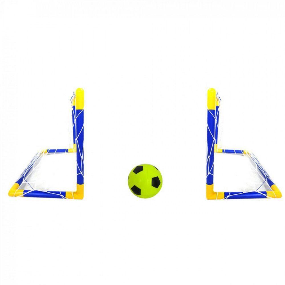56f43544d6d13 Jogo de Futebol Infantil com 2 Traves + Mini Bola com Bomba de Ar Bel R   69