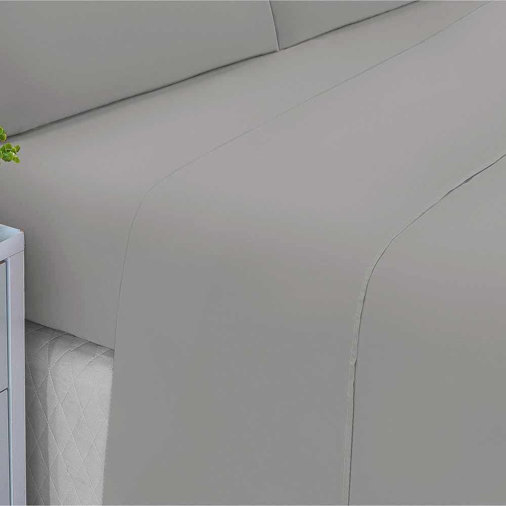 cbd453d76f Jogo de Lençol Casal Padrão Liso Pati 04 Peças Tecido Microfibra - Branco -  sem marca R  54