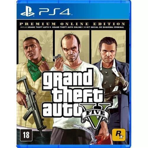 Jogo Ps4 Gta V Premium Online Edit Rockstar Games Jogos De Acao Magazine Luiza