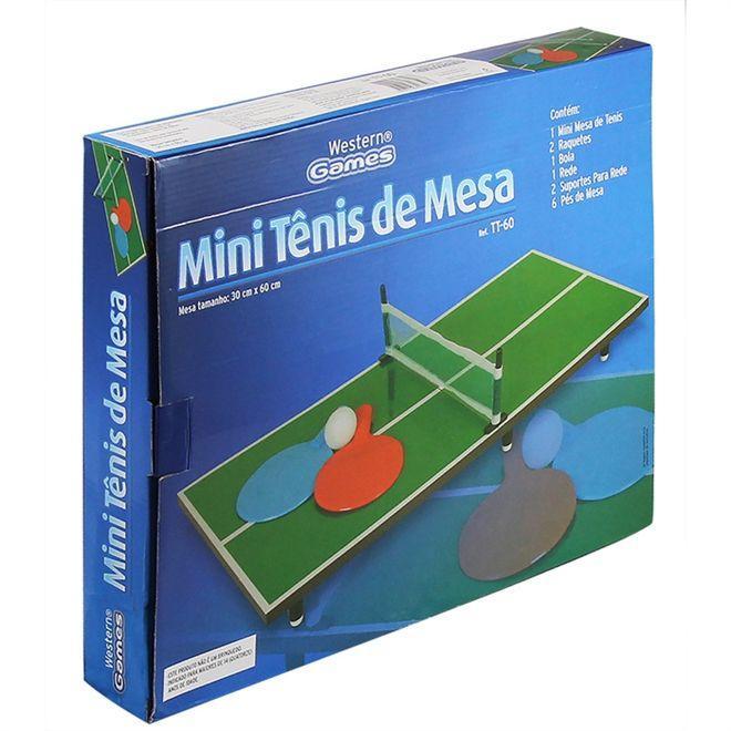 9cd71ca61 Jogo tenis de mesa ping pong infantil completo com raquetes em madeira mini  - Western Produto não disponível