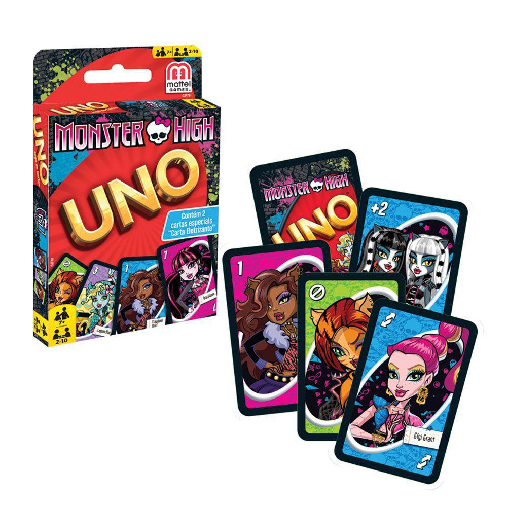 81628e3df2 Jogo Uno Monster High - Mattel - Jogos de Cartas - Magazine Luiza