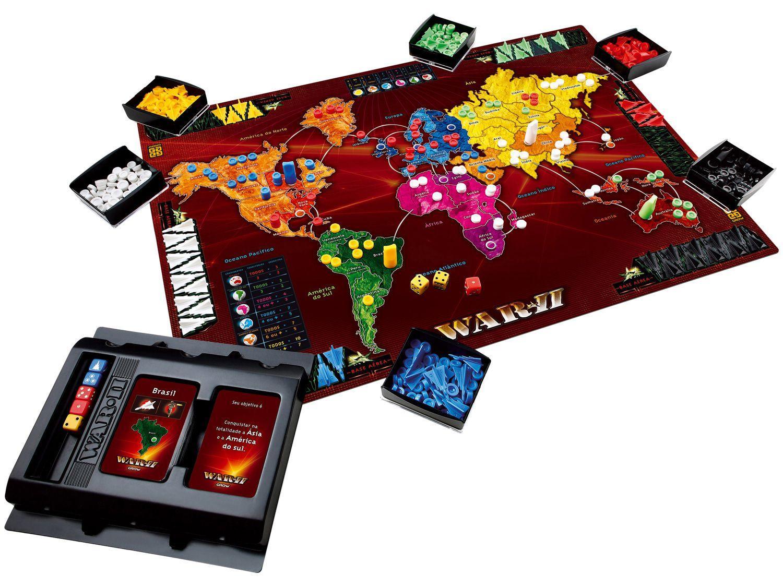 Jogo War Ii Tabuleiro O Jogo Da Estrategia Com Batalhas Aereas Grow Jogos De Tabuleiro Magazine Luiza