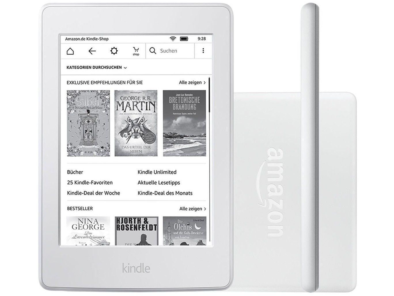 """db6bbbe6d0 Kindle 8ª Geração Amazon Tela 6"""" 4GB Wi-Fi - Branco - Kindle / e ..."""