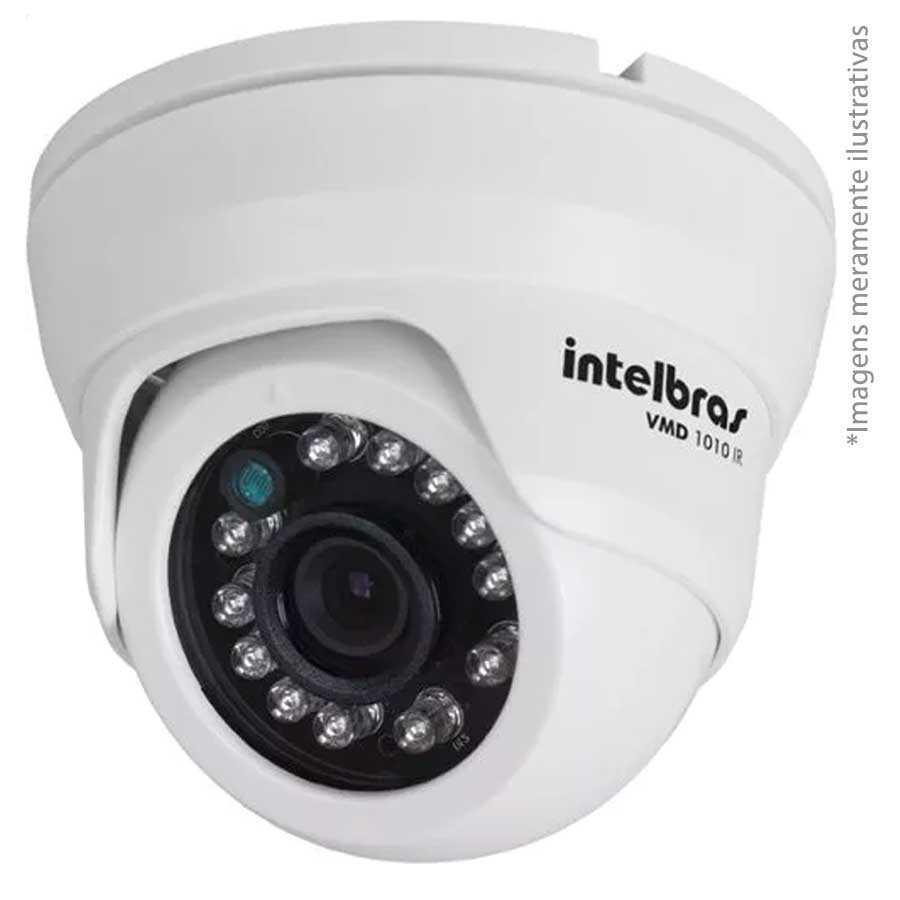 b397b5e33cc77 Kit 04 Câmeras de Segurança Dome HD 720p Intelbras VMD 1010G3 + DVR  Intelbras Multi HD + HD 1TB + Acessórios R  1.071