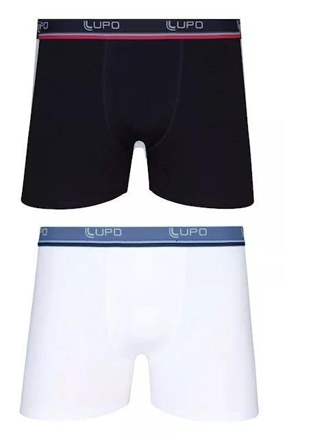 e426abcec Kit 10 Cuecas Boxer Algodão Elastano Lupo 653 Plus Size - Cueca ...