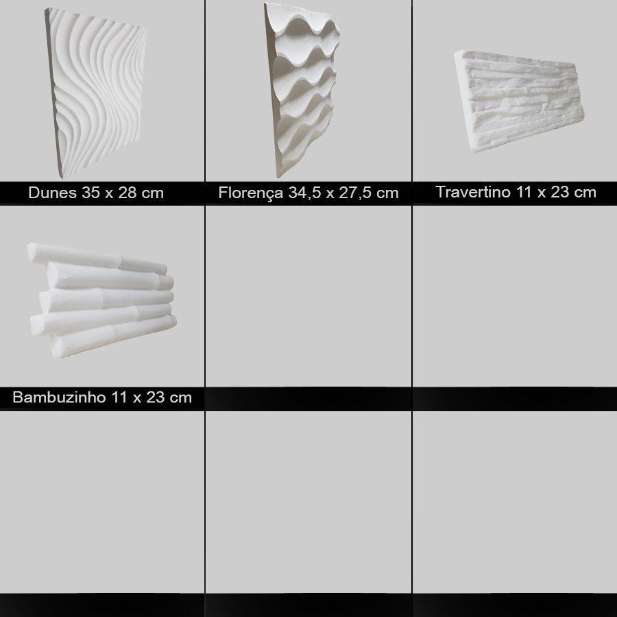 e0b7bceb6 Kit 2 Formas Borracha Com Plastico Para Placas Gesso 3d - Xmoldes formas 3d  R  59