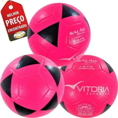 00f9977986 kit 3 Bolas Futsal Vitória Oficial Feminina Fsf 500 - Vitoria esportes R   149