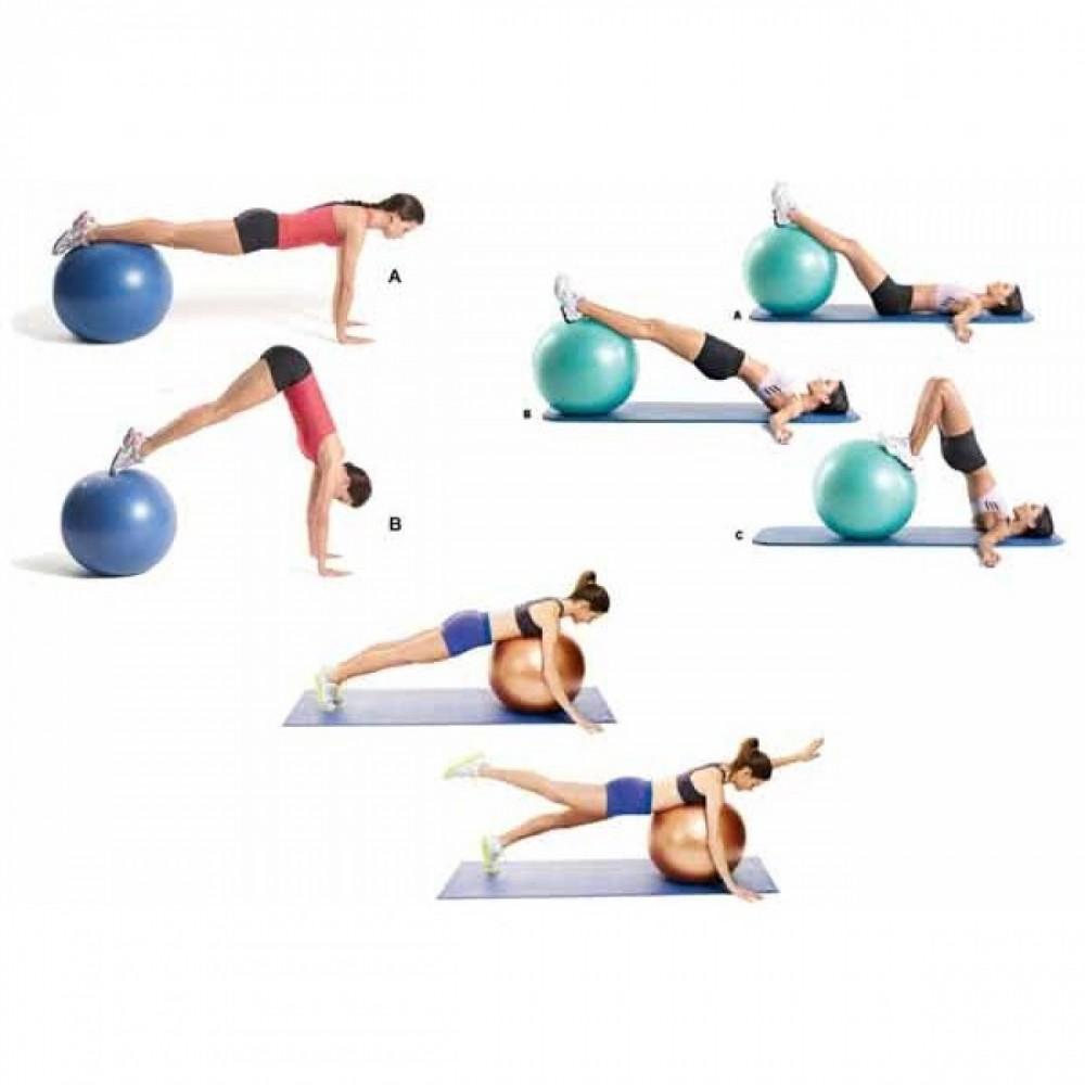 Kit 3 Bolas Suicas 55 65 e 75cm Pilates Yoga Academia Liveup - Bolas ... 31505c7c8f10c