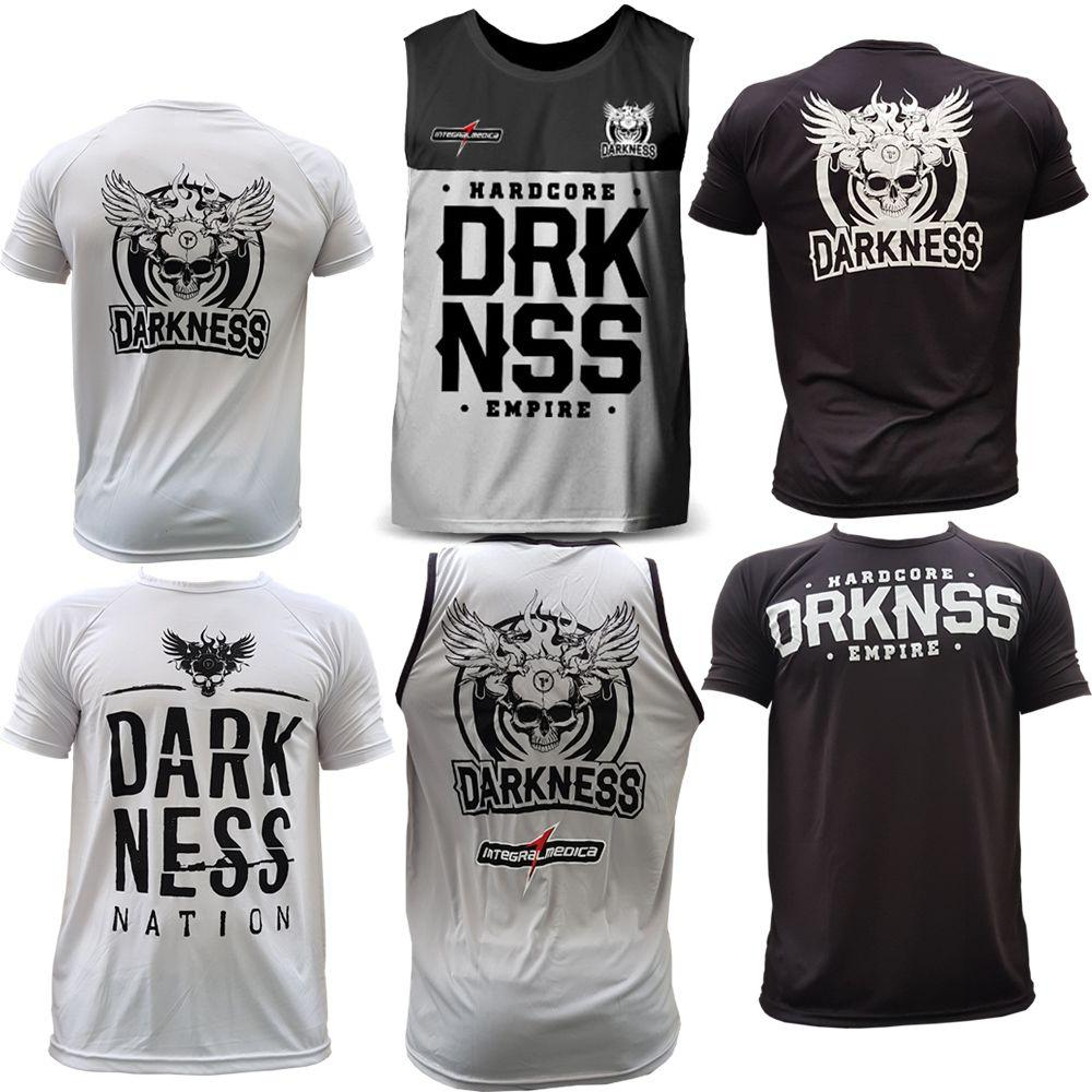 fcd6d2f30b Kit 3x Camisetas Regatas Darkness Integralmedica Empire - Integral medica  R  149