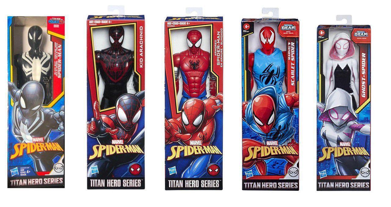 Kit 5 Boneco Homem Aranha Spiderman 30cm Hasbro Titan Hero Bonecos Magazine Luiza Fanadart homem aranha uniforme negro arte de akanadin mundo. kit 5 boneco homem aranha spiderman 30cm hasbro titan hero