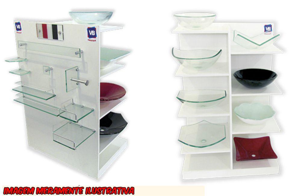 Estante De Vidro Temperado : Kit acessórios em vidro p banheiro c peças de canto incolor
