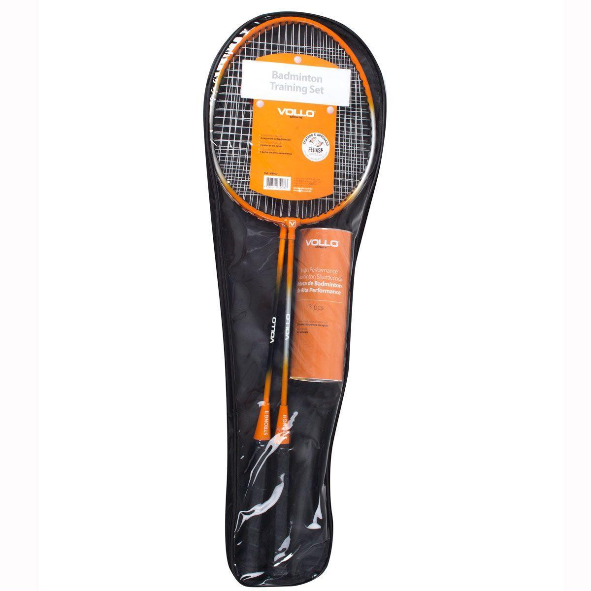 bb2094d262962 Kit Badminton Vollo 2 Raquetes 3 Petecas - Kit Badminton - Magazine ...
