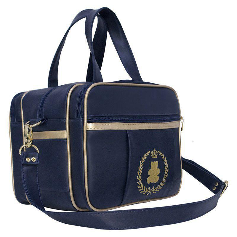 ac679c47e Kit Bolsa Maternidade Diamond Azul Marinho/Dourado+Mochila Creche - 7 Peças  + Brinde - Evundile R$ 599,00 à vista. Adicionar à sacola