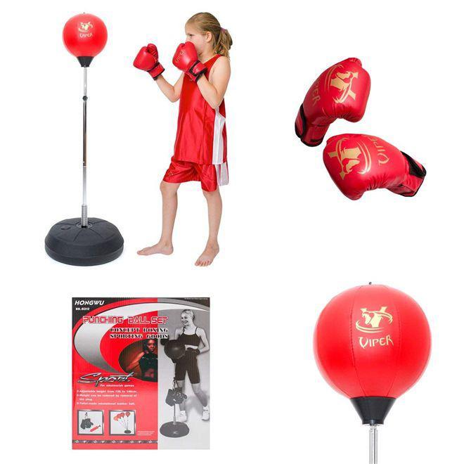 a172c83e4 Kit boxe saco de pancada adulto infantil punching ball kit com luvas e  altura ajustável - Faça resolva R  318