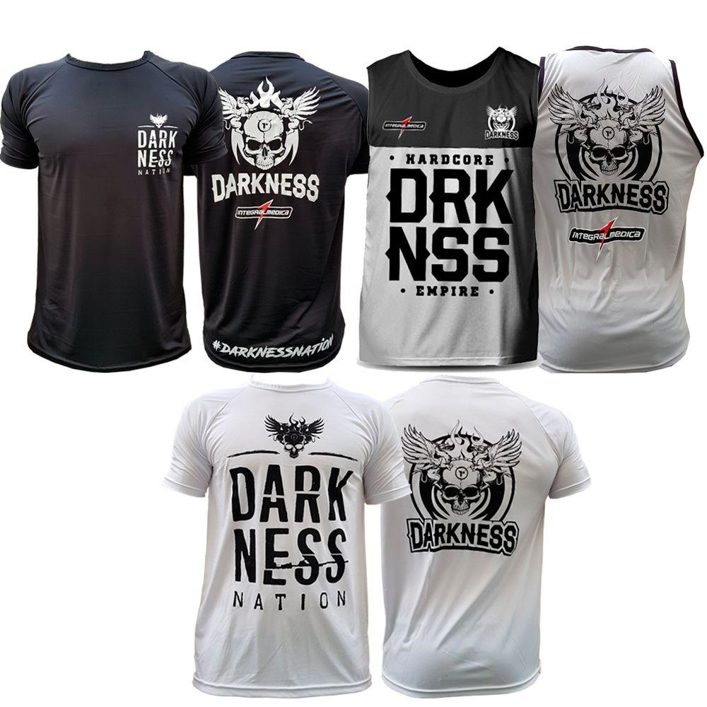 18933e8b7c2e1 Kit Camiseta Nation + Camiseta Darkness Branca + Regata - Integral medica R   139
