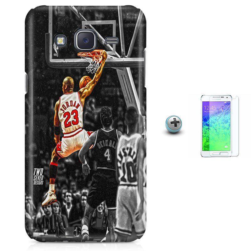 Kit Capa Case TPU Galaxy Gran Prime G530 G531 Michael Jordan 23 Basquete + Pel  Vidro (BD01) - Skin t18 R  92 9b94122bfe802