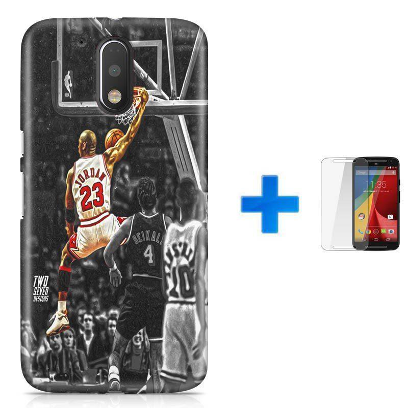 Kit Capa TPU Moto G4 Play Michael Jordan 23 Basquete + Pel Vidro (BD01) -  Skin t18 R  49 b5468ba661bb8