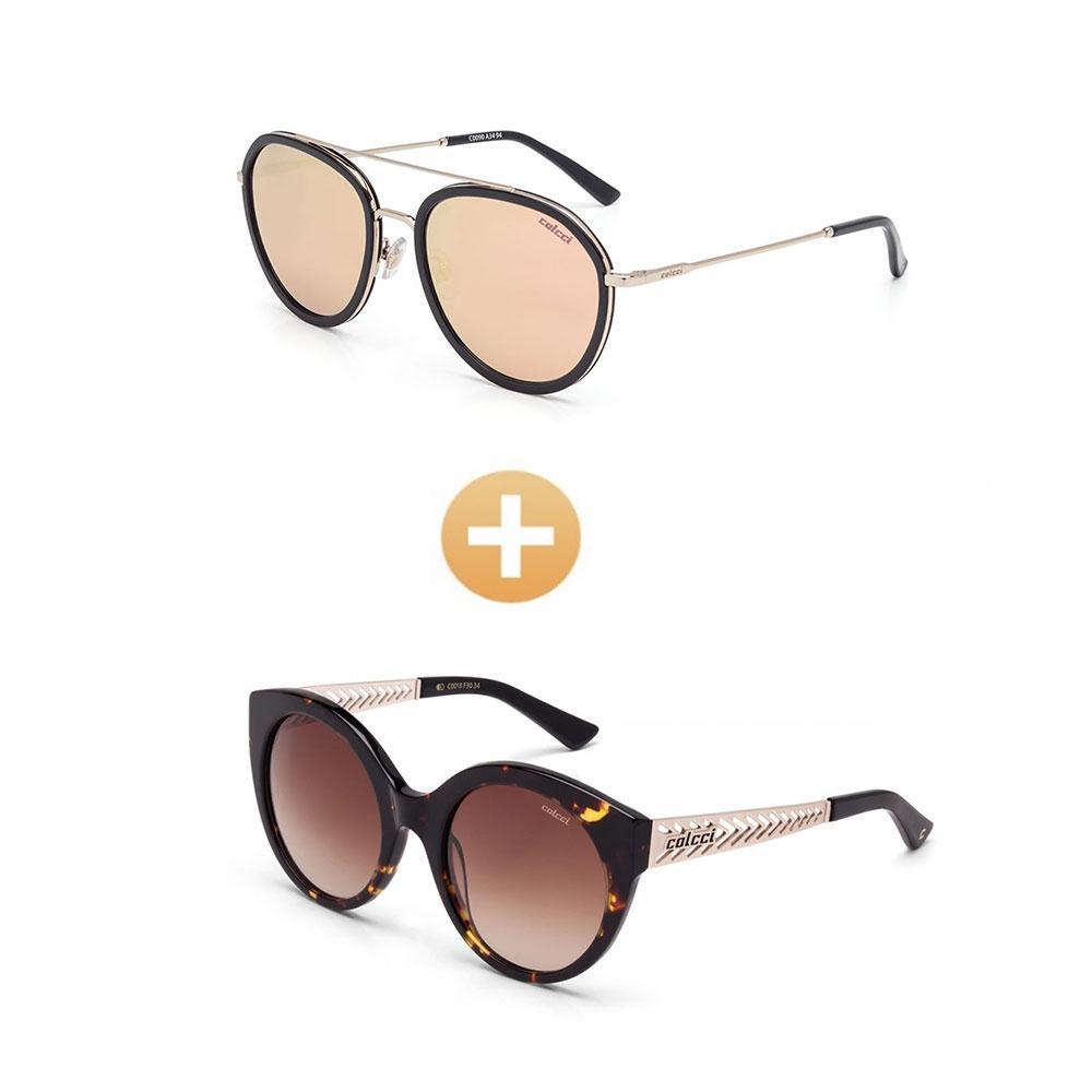 7b290dcef Kit com 2 Oculos de Sol Colcci - F6-Kit-1Pa1 Produto não disponível