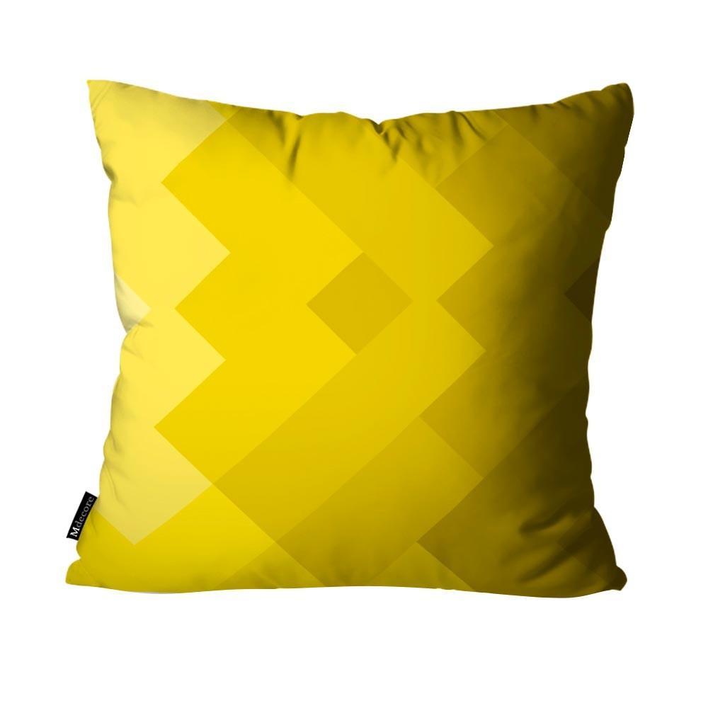 de775041663762 Kit com 4 Capas para Almofadas Geométrica Amarelo - Mdecore