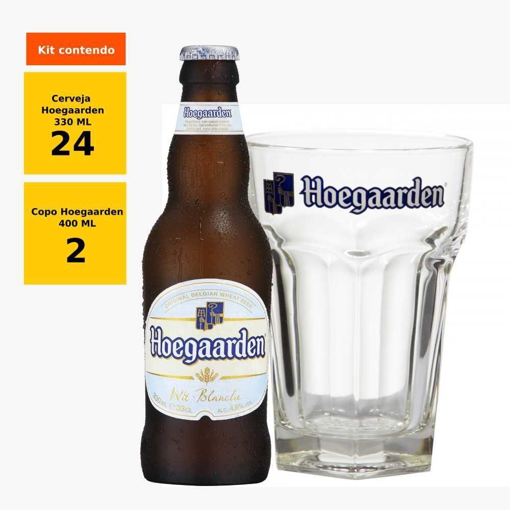 Kit compre Hoegaarden Wit 330 ml caixa com 24 e ganhe 2