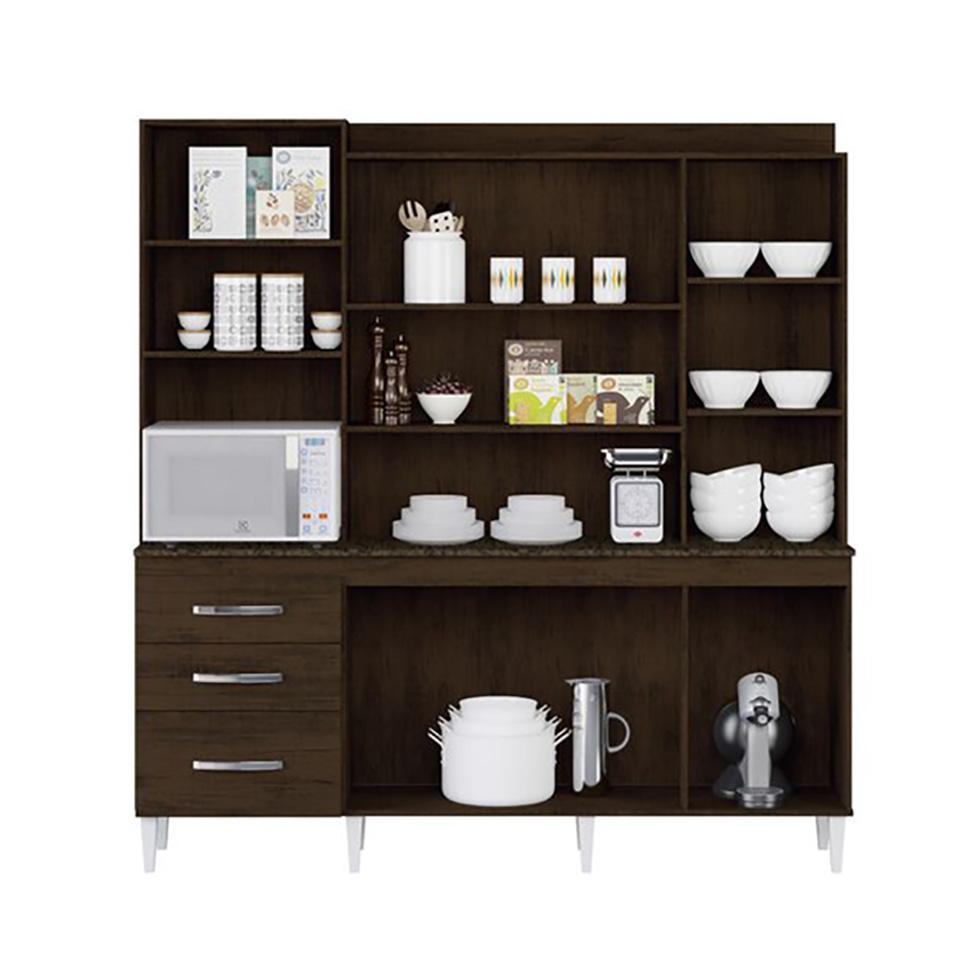 0bc1d892aad Kit de Cozinha Mirela 7 PT 3 GV Ravello e Branco - Aramóveis R  636