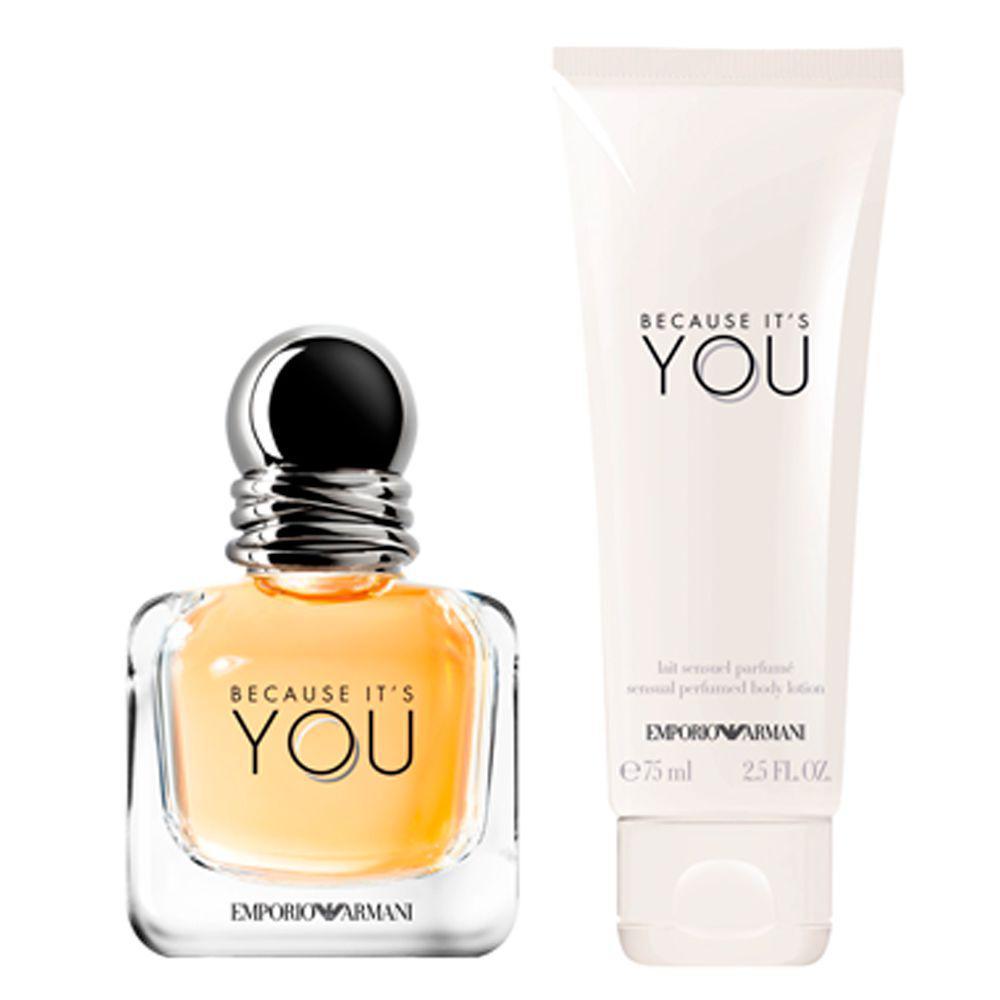 bf2f2b8146ab6 Kit Giorgio Armani Because its You She - Eau de Parfum + Loção Corporal  Produto não disponível