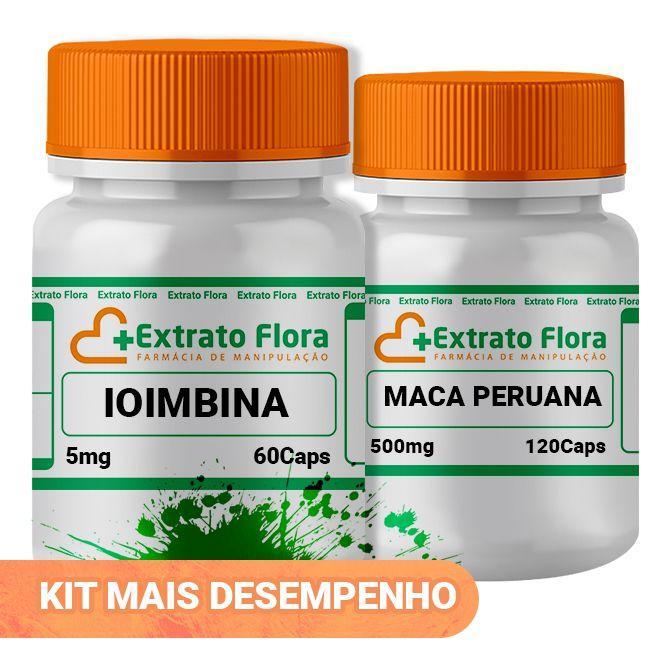 d28c930a2 Kit Ioimbina5mg 60 Cápsulas Maca Peruana 500mg 120 Cáps - Extrato flora R   76