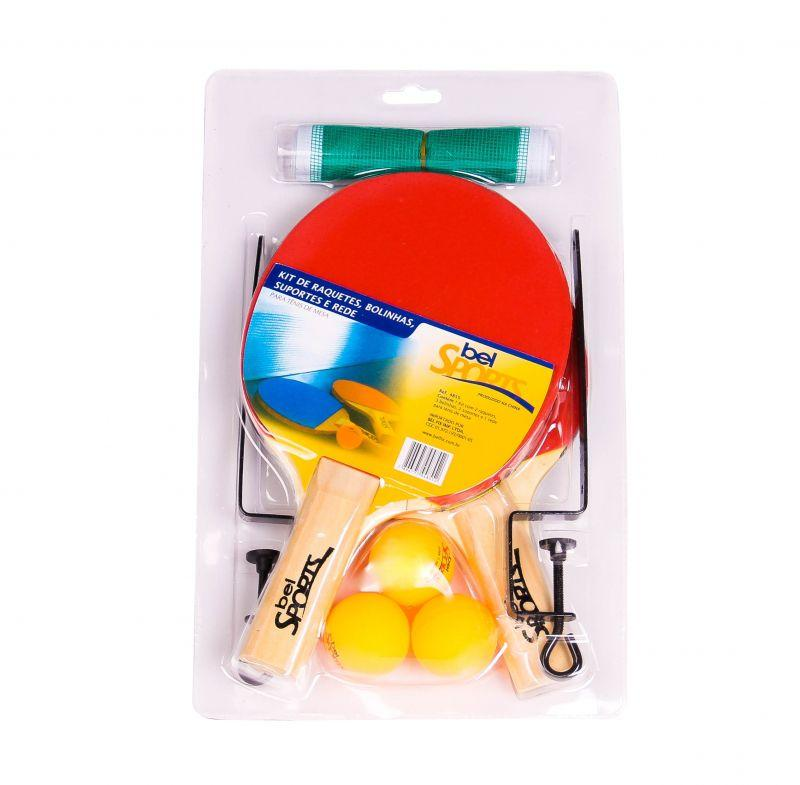 Kit jogo tênis de mesa 2 raquete - rede - suporte - bola - Bel Sports R   41 e3d6c6c589d36