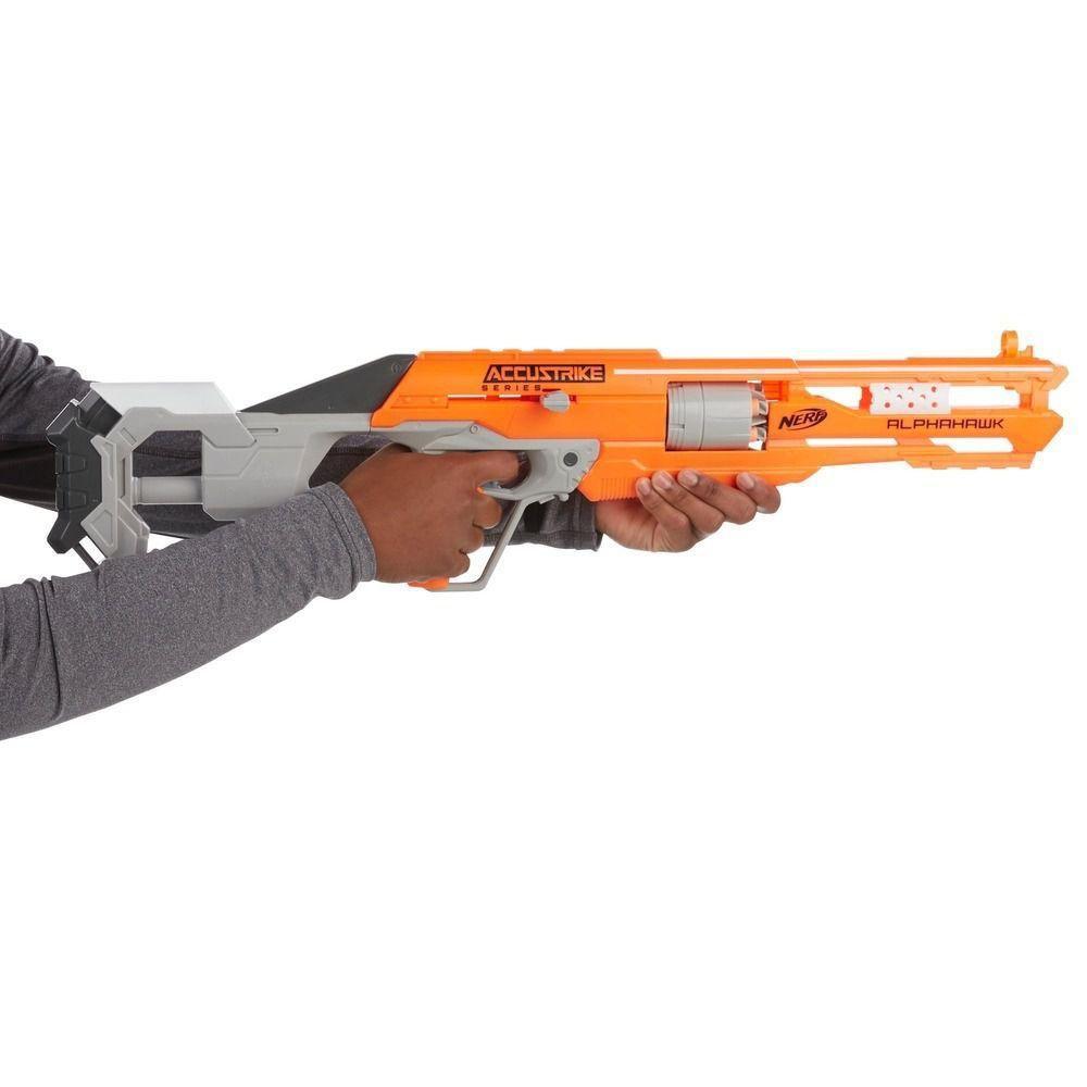 a0cca36a4 Kit Lançador NERF Accustrike ALPHAHAWK + Dardos Accustrike Hasbro R$ 329,80  à vista. Adicionar à sacola