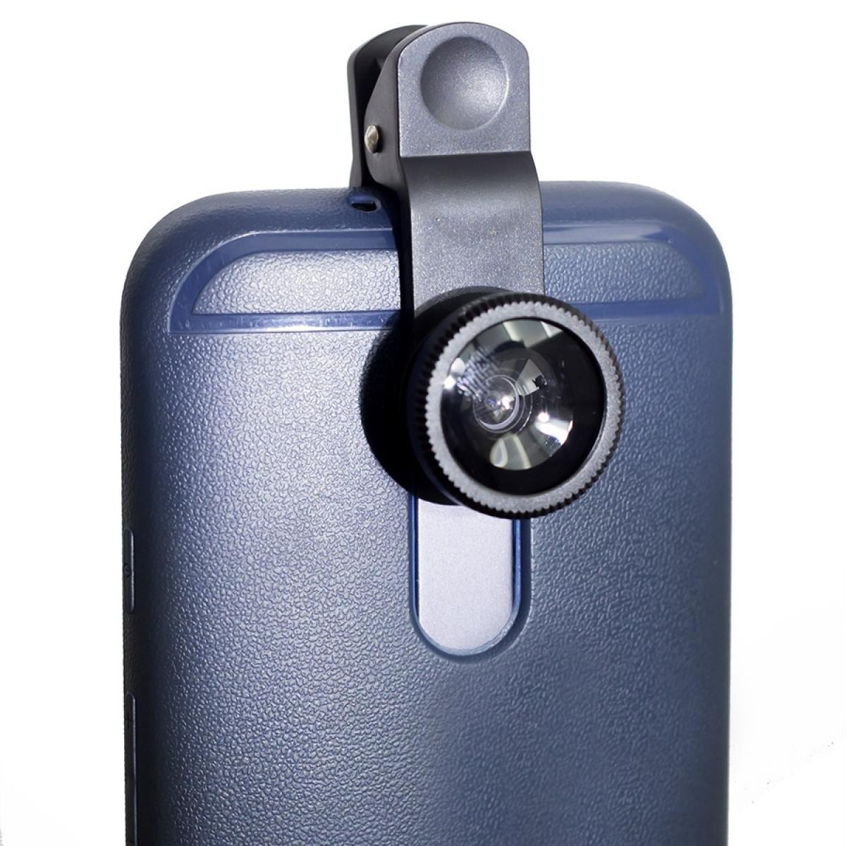 368f9720323 Kit lente celular 3 em 1 Universal, Olho De Peixe, Grande angular e Macro -  Greika R$ 42,92 à vista. Adicionar à sacola