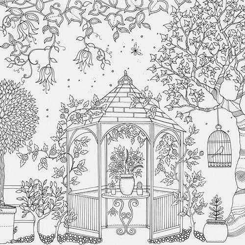Kit Livro Para Colorir Antiestresse Jardim Secreto Lapis De